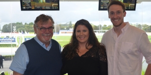 Mike Hogan, Niue Tourism; Michelle Geale, Scenic Hotel Group; Liam Began, Whiteley Allcare.