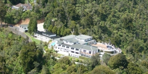 Aerial shot of Heritage Collection Waitakere Estate in the Waitakere Ranges