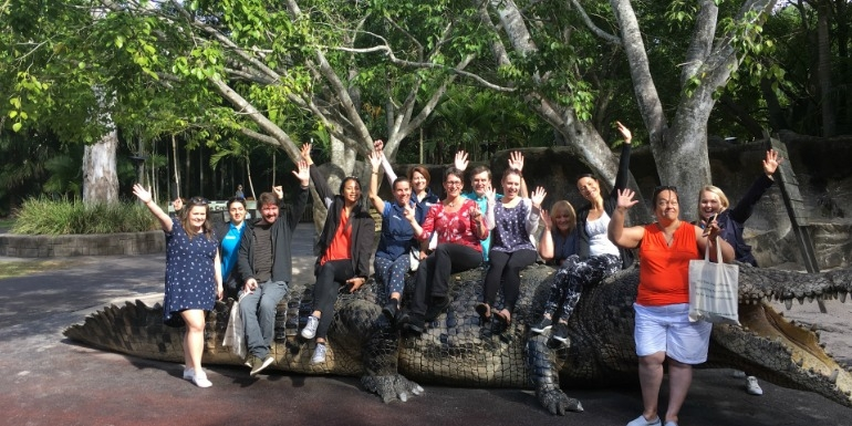 Sunshine Coast and Brisbane Marketing and Convene Q delegates converge at Australia Zoo