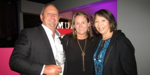 Enjoying the Naumi launch last night...Craig Cunningham, Southern Hospitality Ltd; Shelley Cunningham, CD Event Management; Bonnie Lynch, Gilpin Travel