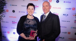 Emily Byrne, TIA - winner of Best Event Professional 2018; Stuart Turner, ATEED