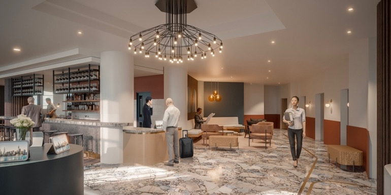Impression of the lobby at Airedale Boutique Suites