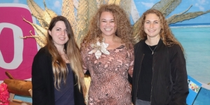 Kelly Fitzgerald, Haka Tours; Trianna Ama, The Edgewater Resort & Spa; Lucy Tofield, Haka Tours - Talking Cook Islands Events