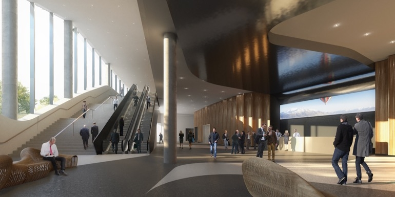 Artist impression - foyer Te Pae Christchurch Convention Centre