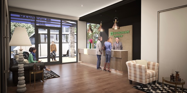 Artist impression of the hotel's lobby