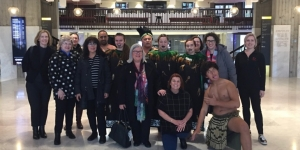 The group received a Maori welcome at Christchurch Town Hall