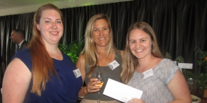 Stephanie  Szmurlo, Christine McGonigal, Amy Edwards (who won a package at Spa at the Pullman), all University of Auckland