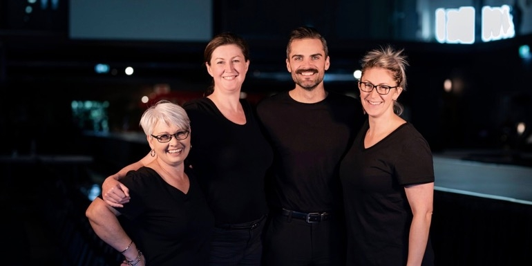 The TW Events & Incentives team have decades of experience in the industry. From left, Maree Tressler, Catherine Skerrett, Adam Reinsfield, and Rachel Robinson.