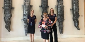 Some of the team from the Cairns Convention Centre, Helen Beardall, Vania Bau and Jillian Causer