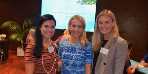 Kim Martin, Go Conference and Incentive; Sonya Lawson, Tourism Fiji; Charlotte Towle, Go Conference and Incentive