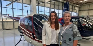 Tania Adolphe, TMS and Caroline Blanchfield, GCH Aviation