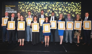 Group photo of the New Zealand Hotel Industry Awards winners