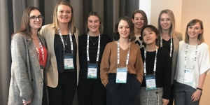 CINZ mentees for 2019 are, from left, Laura Schwenk, Wairakei Resort; Rebecca Plested, Vodafone Events Centre; Chelsea King, Queenstown Convention Bureau; Kate Hendry, Auckland Museum; Jade Thorne, The Grounds @ Whoa! Studios; Sujin Lee, Auckland Museum; Laura Petersen, Business Events Wellington; Lauren Newbery, CINZ. (Rach Michaels, Lime & Soda was absent)
